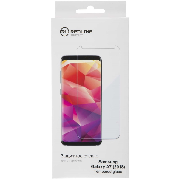 Защитное стекло для Samsung Red Line для Samsung Galaxy A7 (2018), tempered glass
