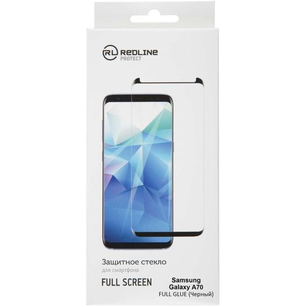 Защитное стекло для Samsung Red Line для Samsung Galaxy A70, Full Screen TG FG Black фото
