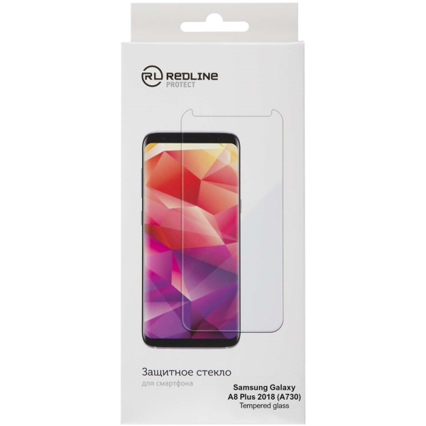 Защитное стекло для Samsung Red Line для Samsung Galaxy A8 Plus 2018 (А730), TG