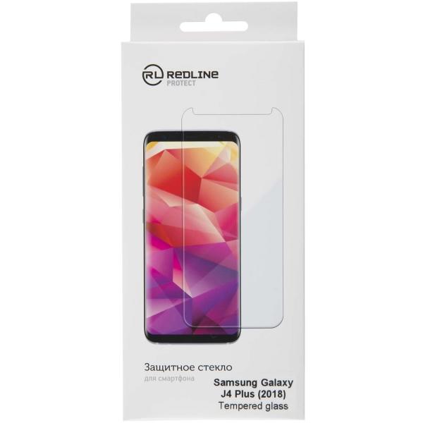 Защитное стекло для Samsung Red Line для Samsung Galaxy J4 Plus (2018), tempered glass