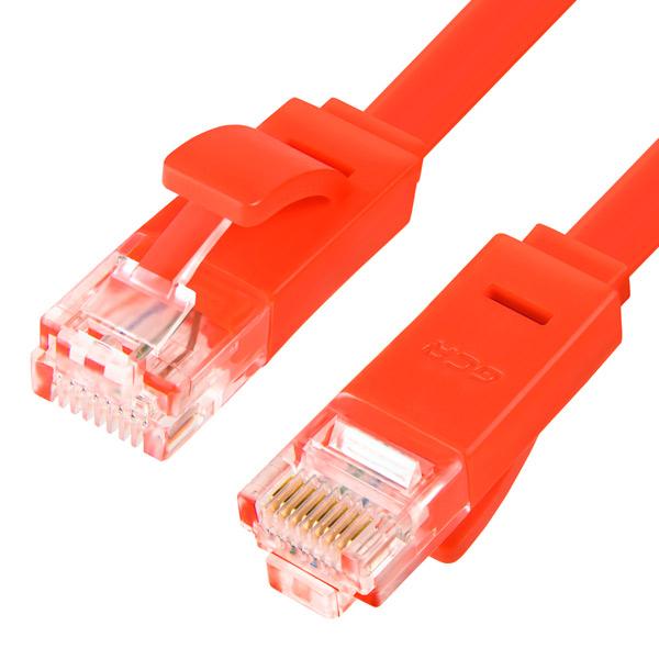 Кабель сетевой GCR GCR-LNC62 RJ45 cat6 Red плоский 10.0м