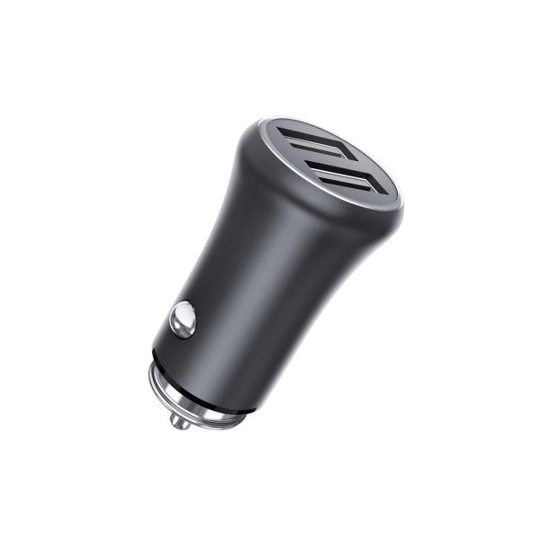 Автомобильное зарядное устройство TFN Rapid+ 2xUSB 3.1A 15W, Grey