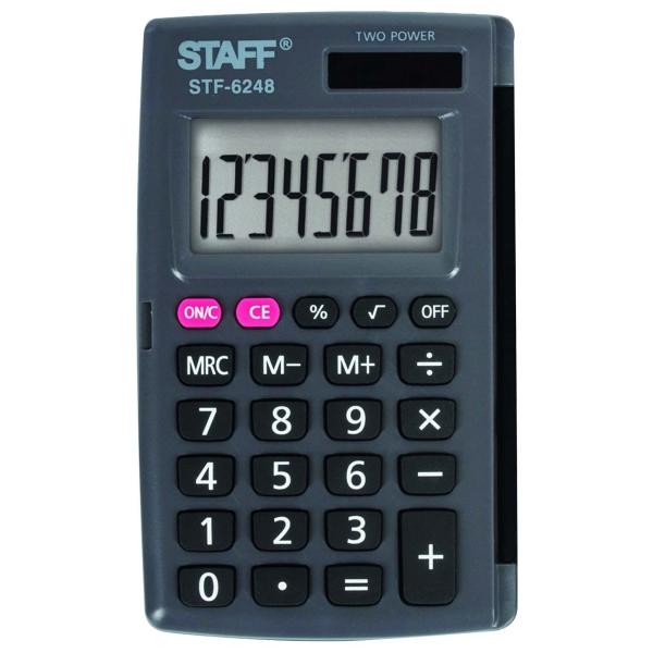 Калькулятор Staff STF-6248 карманный (250284)