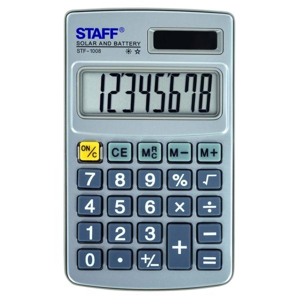 Калькулятор Staff STF-1008 карманный (250115)