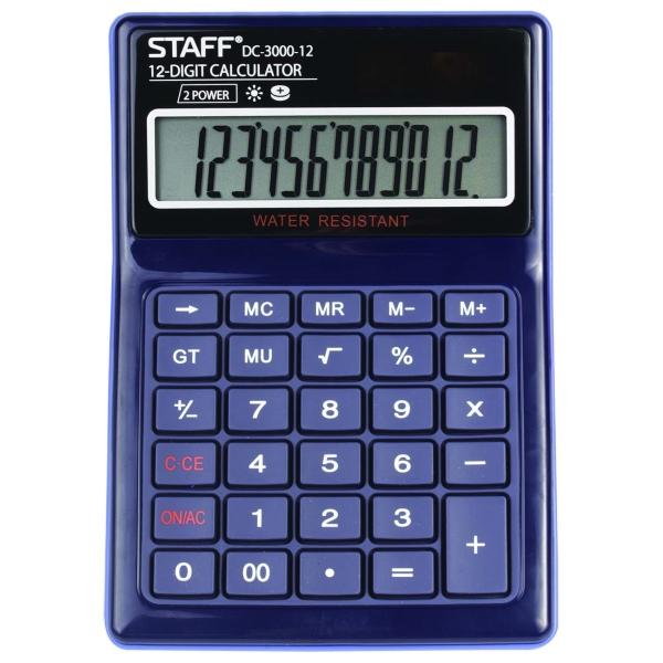 Калькулятор Staff Plus DC-3000-12 (250424)