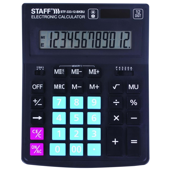Калькулятор Staff Plus STF-333-12-BKBU (250461)