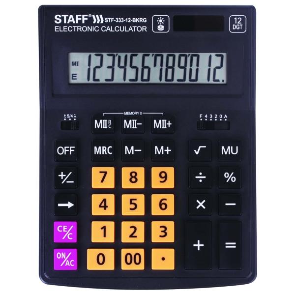 Калькулятор Staff Plus STF-333-12-BKRG (250460)