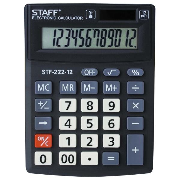 Калькулятор Staff Plus STF-222-12 компактный (250420)