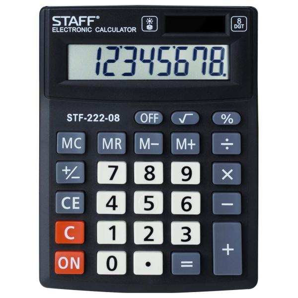 Калькулятор Staff Plus STF-222-08 компактный (250418)