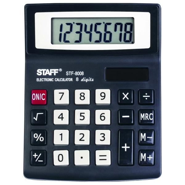 Калькулятор Staff STF-8008 компактный (250147)