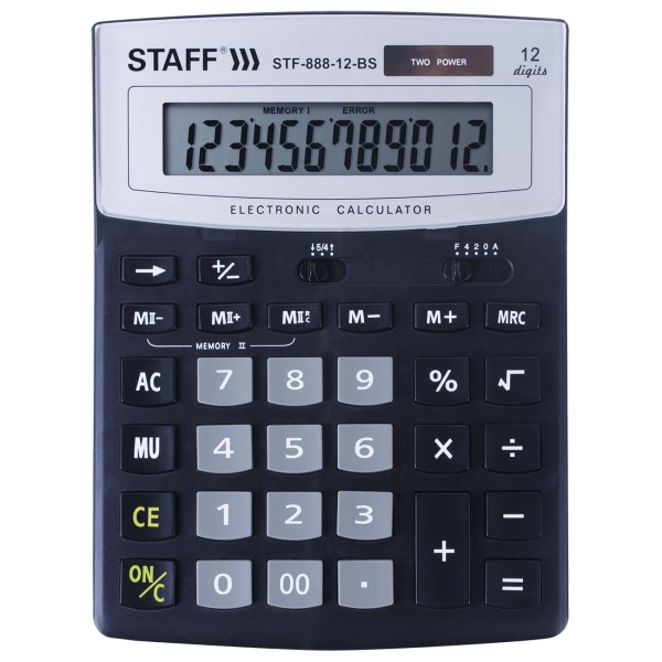 Калькулятор Staff STF-888-12-BS (250451)