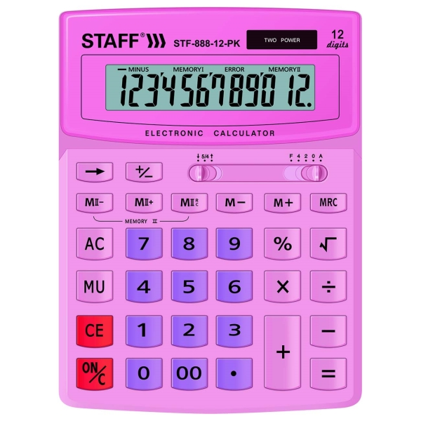 Калькулятор Staff STF-888-12-PK (250452)