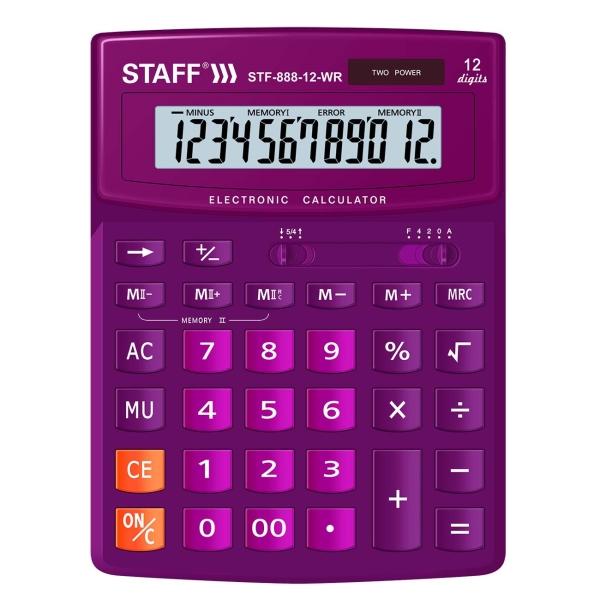 Калькулятор Staff STF-888-12-WR (250454)