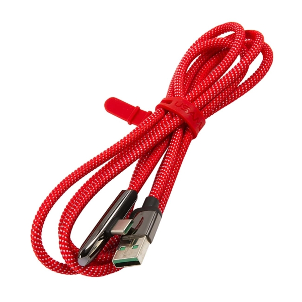 Кабель для смартфона Usams — U34 USB-A/C, с индик.боковой, Red (УТ000019975)