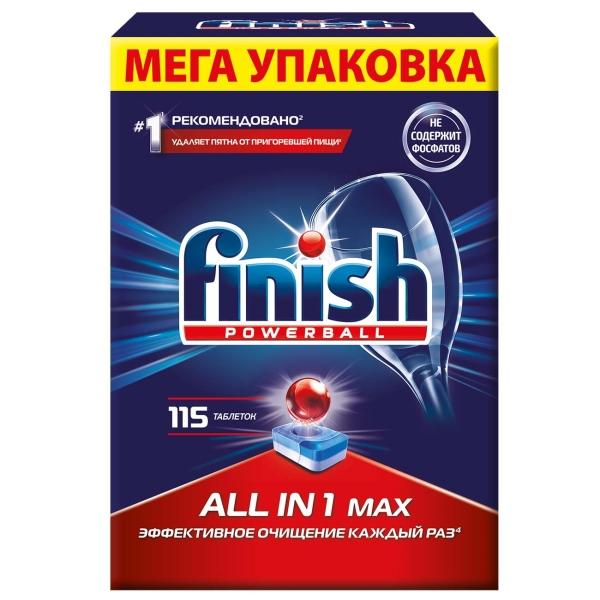Моющее средство для посудомоечной машины Finish All in 1 Max 115табл.