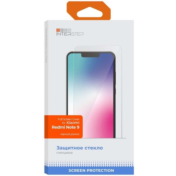 Защитное стекло InterStep FSC для Xiaomi Redmi Note 9 Black фото