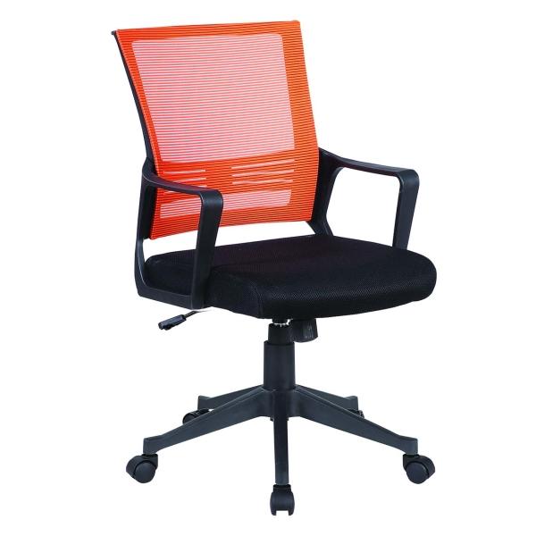 Кресло компьютерное Brabix Balance MG-320 Black/Orange (531832) фото