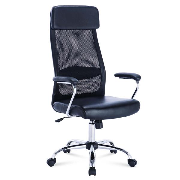 Купить Кресло компьютерное Brabix Flight EX-540 экокожа Black (531850) в каталоге интернет магазина М.Видео по выгодной цене с доставкой, отзывы, фотографии - Москва