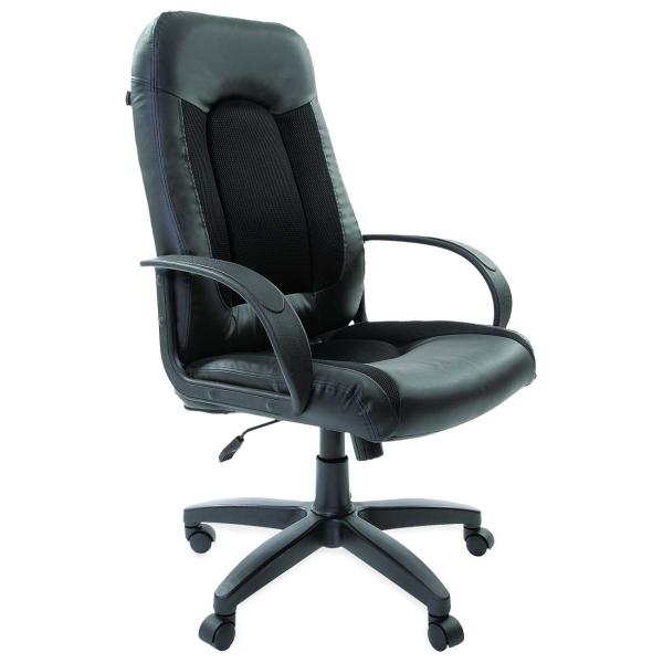 Кресло компьютерное Brabix Strike EX-525 экокожа/ткань Black (531381) фото