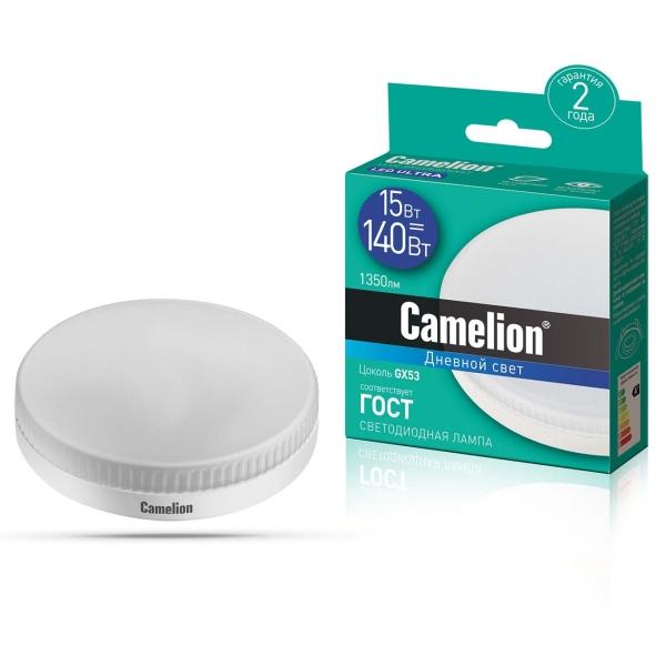 Лампа LED Camelion LED15-GX53/865/GX53 6500