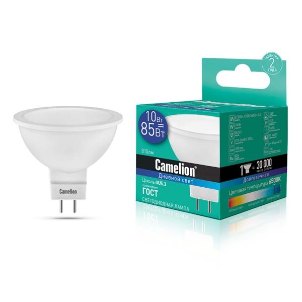 Лампа LED Camelion LED10-JCDR/865/GU5.3 6500