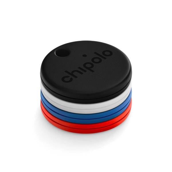 Комплект умных брелков Chipolo One 4шт. Black/Blue/Red/White (CH-C19M-4COL-R)