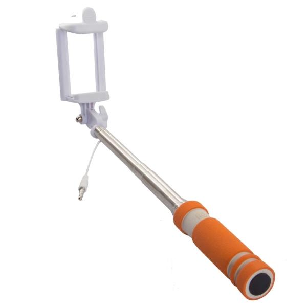 Монопод для смартфона Rekam SelfiPod S-350R оранжевого цвета
