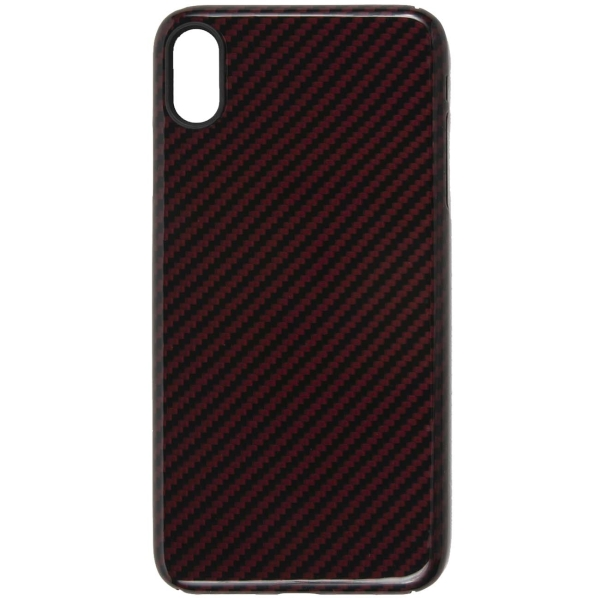 Чехол Barn&Hollis Carbon для iPhone XS Max High Gloss Red фото