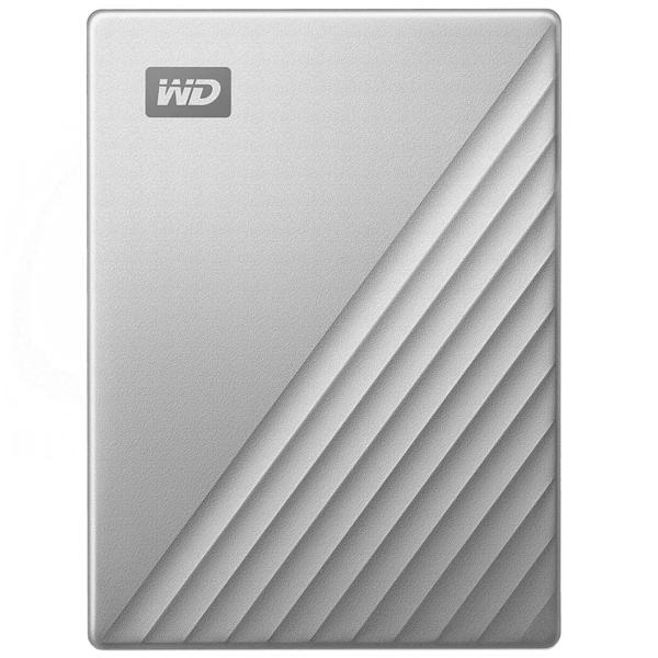 "Внешний жесткий диск 2.5"" WD 1TB My Passport Ultra Silver (WDBC3C0010BSL-WESN) серебрянного цвета"