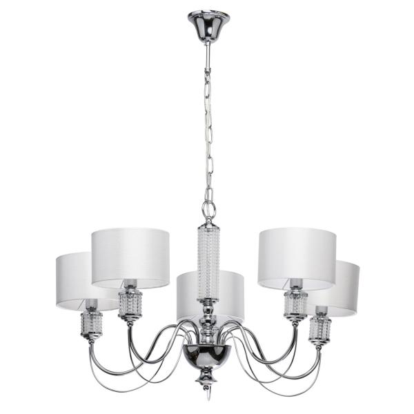 Светильник потолочный MW-light, Онтарио 5x40W E14 люстра (692011205), хром, металл/ стекло  - купить со скидкой