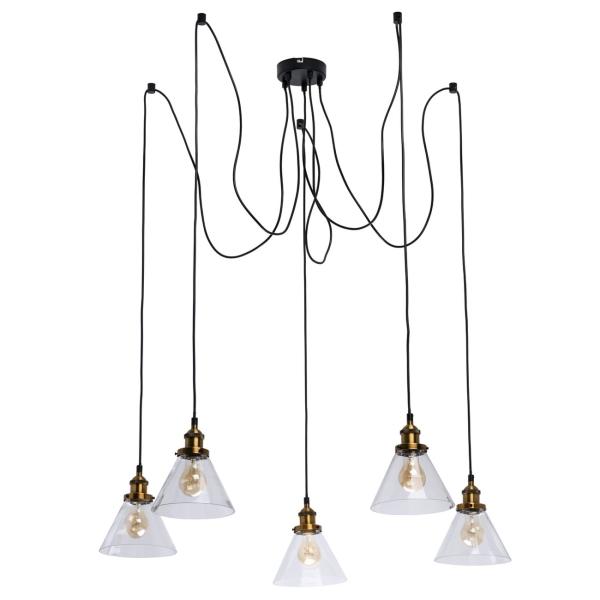 Светильник потолочный De Markt, Фьюжн 5x40W E27 люстра (392017805), черный, металл  - купить со скидкой