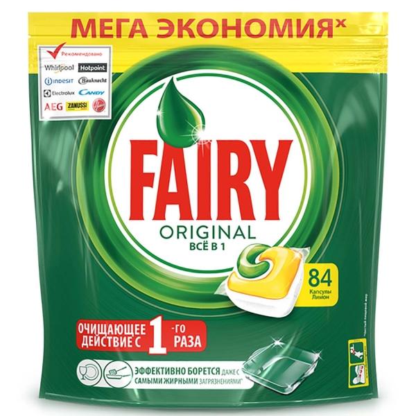 Моющее средство для посудомоечной машины Fairy Капсулы All in 1 Лимон 84 шт.