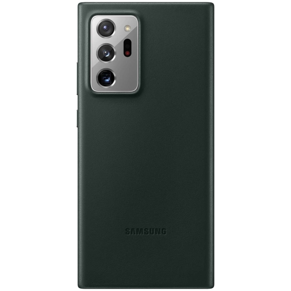 Чехол Samsung Leather Cover Note 20 Ultra зелёный фото
