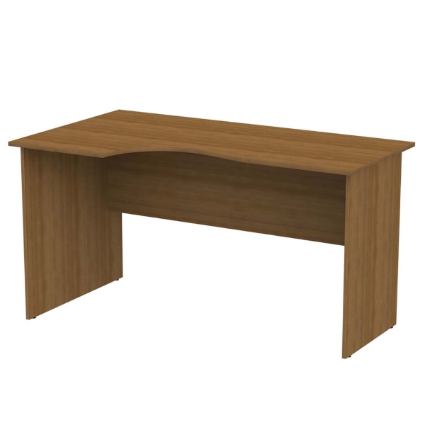 Стол компьютерный Монолит 640042 Канц орех, письменный эргон. (140*80*75см)