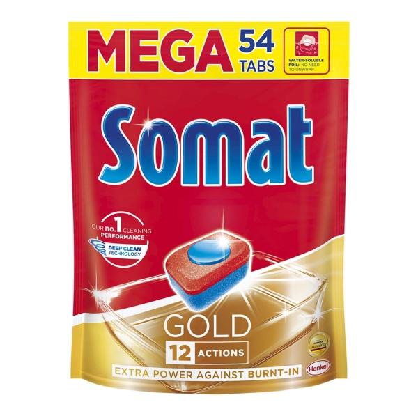 Моющее средство для посудомоечной машины Somat Gold, 54 таблетки