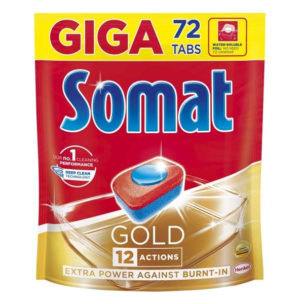 Моющее средство для посудомоечной машины Somat Gold, 72 таблетки