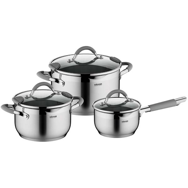 Набор посуды (нержавейка) Nadoba Nita с крышками, 6 предметов (726918)