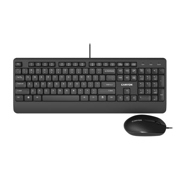 Комплект клавиатура+мышь Canyon