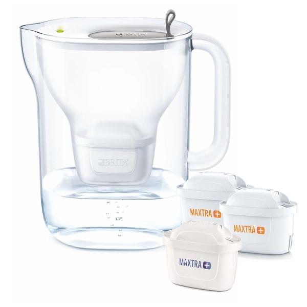 Фильтр для очистки воды Brita Style XL 3,6л + 3 MAXTRA+ Grey серого цвета