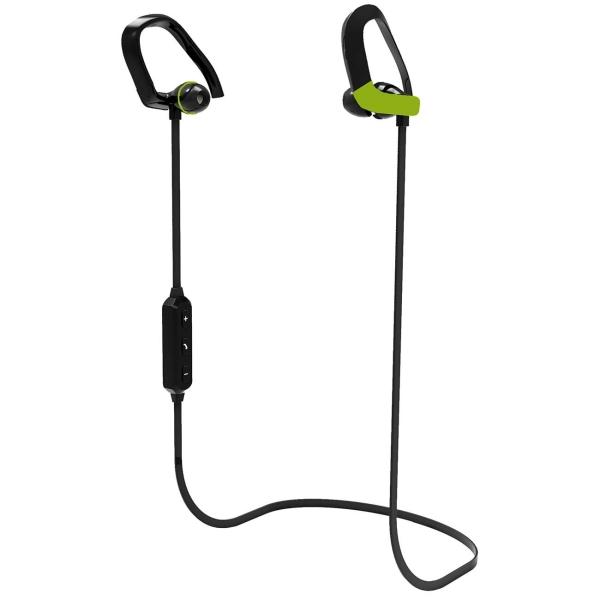 Спортивные наушники Bluetooth Telefunken TF-HS1004B Black/Green