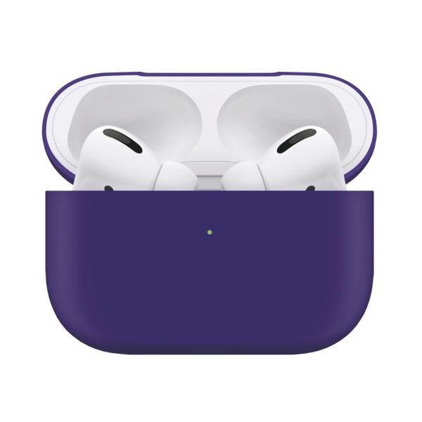 Чехол для AirPods Pro InterStep liquid silicone фиолетовый фиолетового цвета
