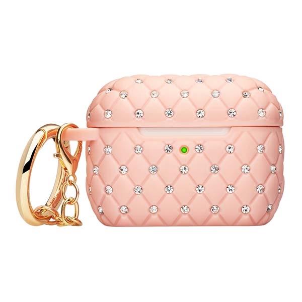 Чехол для AirPods Pro Deppa Crystal Pink (47317) розового цвета