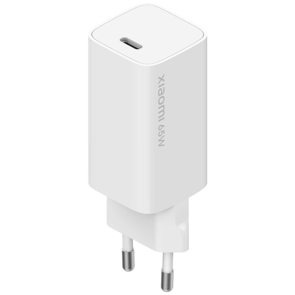 Сетевое зарядное устройство с кабелем Xiaomi 65W Fast Charger with GaN Tech (BHR4499GL) белого цвета