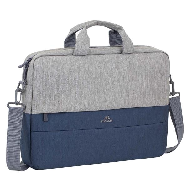 """Купить Кейс для ноутбука до 15"""" RIVACASE 7532 grey/dark blue в каталоге интернет магазина М.Видео по выгодной цене с доставкой, отзывы, фотографии - Уфа"""