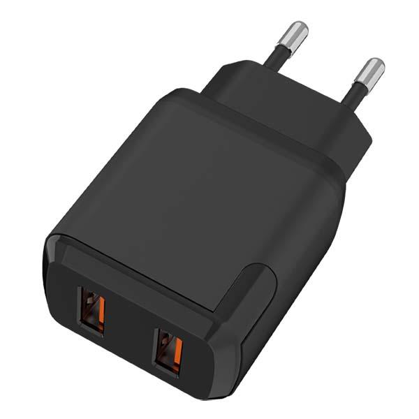 Купить Сетевое зарядное устройство TFN x2 USB QC3.0 18W черный в каталоге интернет магазина М.Видео по выгодной цене с доставкой, отзывы, фотографии - Москва