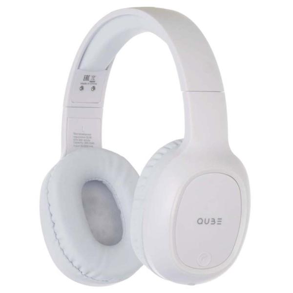 Наушники накладные Bluetooth QUB STN-300 White белого цвета