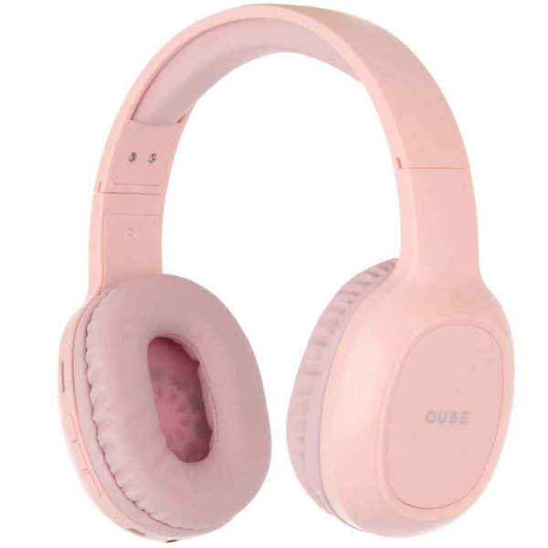 Наушники накладные Bluetooth QUB STN-300 Pink розового цвета