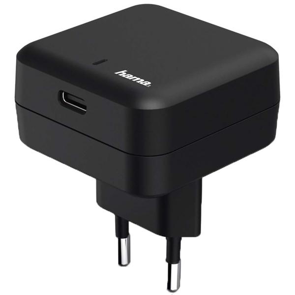 Сетевое зарядное устройство Hama Power Delivery 27Вт (178312) черного цвета