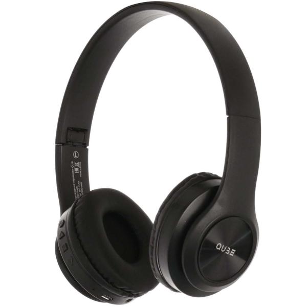 Наушники накладные Bluetooth QUB STN-310 Black