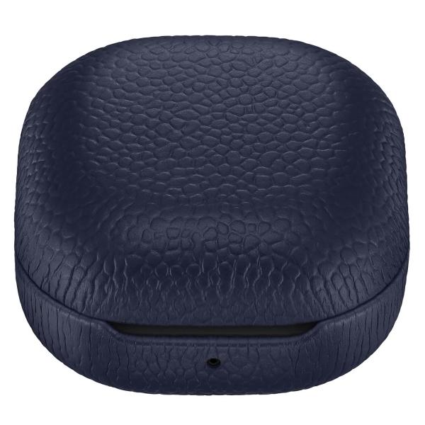Чехол для наушников Samsung Leather Cover Buds Live DarkBlue (EF-VR180LNEGRU) темно-синего цвета